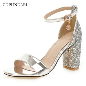 CDPUNDARI Gold Silver Ladies High heels Sandals Women summer shoes woman sandalias mujer sandales femme Big Size Y200323