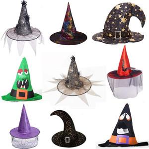 Pizzo Veil strega cappello da mago Cappelli cappelli di travestimento di Halloween Props Ognissanti Carnival Party