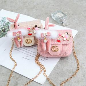 2020 Handbags Bébé Nouveaux enfants Sacs à main Fashion Girls Mini princesse Monnaie fille mignonne de sacs de lapin Coins Voyage Sacs Casual Cadeaux