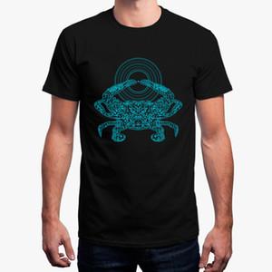 Chegada Nova Mens t-shirt simples Crustáceo sulco camiseta Streetwear Cotton Verão de manga curta T-shirt do homem tamanho S-3xl Hiphop