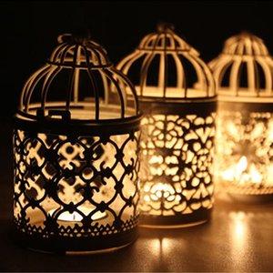 1pc creux Bougeoir Photophore Lanterne suspendue Oiseau Cage Vintage Forgé décorative marocaine Lanterne Bougeoir T2 #