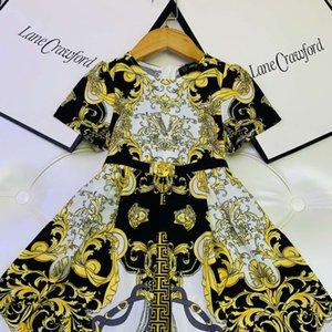 baby girl clothe дешевое летнее платье flower girl dress для свадьбы детская одежда оптом 110-160 см необычные платья для девочек особый случай синий