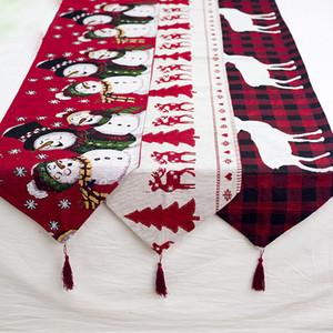 Decoração Personalidade Bandeira nova tabela Decorações de Natal Cotton Natal bordado criativos europeus Coffee Table desktop Moda