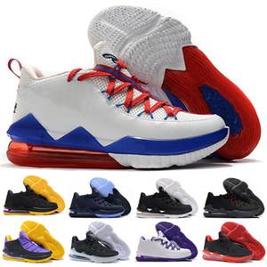 Tune Squad Safari Kumquat LeBron 17 XVII Bas Blanc / Blanc-Université Rouge-jeu Royal Lebrons 17 S hommes de basket-ball Chaussures Taille 40-46