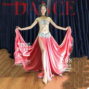 Nuovi vestiti di ballo di pancia! Donne Performance Show Belly Dance Set anziano Bra + Skirt + Belt mutande 4pcs Set a mano