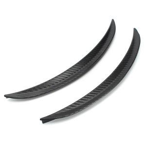 2pcs 32.5cm Car for Fender Flares Carbon Fiber Wheel Arch Eyebrow Eyelid Lips Guard Protector Universal