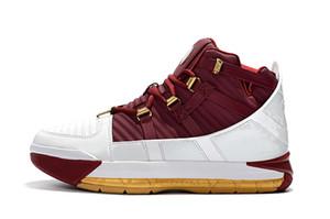 Новые мужские Zoom lebron 3s Christ the King баскетбольные кроссовки на продажу lebron 3 III Черное золото Big Boys Generation кроссовки Размер 7-12