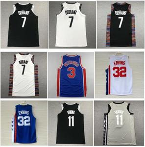 Para hombre bordado # 32 Julius Erving Jersey Vintage # 3 Drazen Petrovic camisa, Nueva 2020 Kevin Durant # 7 Jersey 11 # Kyrie Irving camisas mayorista
