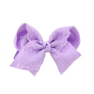 30Pcs Lot Kids Girls Hair Bows Hair Clip Brand Fashion Boutique Clip Grosgrain Ribbon Lace Candy Color Girls Hairpin Hair Accessories