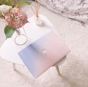 Estuche para 2018 Nuevo Macbook Air Pro 11.6 12 13.3 15.4 Color degradado Estuche rígido Retina Laptop Cubierta protectora completa