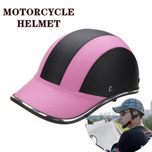 Personality Tank Casque Motorcycle Helmet Leather Headgear Baseball Cap Crash Hat Locomotive Bongrace Safety Casco Anti Strike