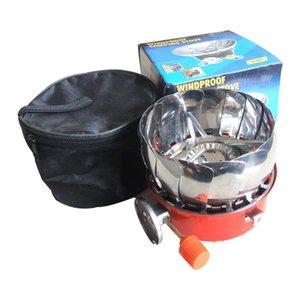 Mini pliage extérieur boucle pique-nique poche long poêle de camping poêle lotus réservoir de gaz cuisinière à gaz cuisine K-203