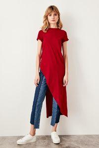 Trendyol Burgundy Asymmetrical Knitted Blouse Twoss19vg0116 Y19062501