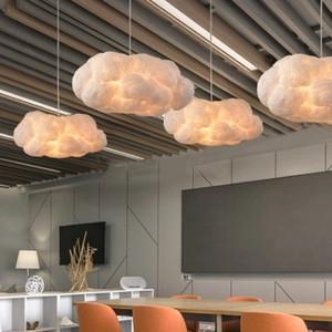 Nubes nórdicas Luces colgantes Lámpara de seda Nubes oscuras HangLamp Personalidad Decorar la luz colgante para el restaurante del lobby del hotel