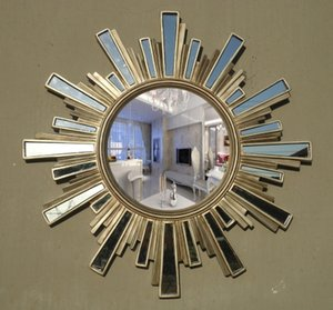 78 cm x 78 cm Espelho de Banheiro Europeu Vidro Rodada Montagem Penteadeira Espelho Decoração Espelho Pendurado banheiro banheiro itens de quarto