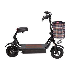10-дюймовый мини складной бег на длинные дистанции Ван Parent-Child двухколесный электрический автомобиль может держать 48V свинцово-кислотных литиевая батарея