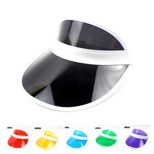 Diseñador visera de verano sombrero para el sol mujeres hombres sombreros gorras de plástico Cap sun shade para mujer para hombre niños niñas accesorios de moda al por mayor