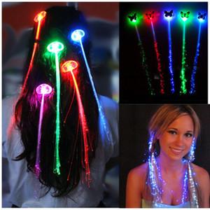 Pince à cheveux flash flash papillon tresse concert concert conduit accessoires cheveux accessoires Halloween de Noël accessoires jouets LED accessoires de cheveux
