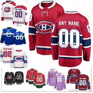 Benutzerdefinierte Montreal Canadiens Männer Frauen Jugend Carey Preis Jesperi Kotkaniemi Max Domi Brendan Gallagher Shea Weber Tomas Tatar Hockey Trikot