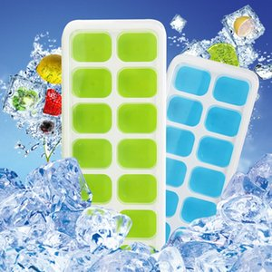 İçecekler için Esnek Kolay açılan Silikon Kapaklı Ice Cube Tepsileri 2PCS / 1set