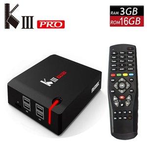Original MECOOL KIII PRO Android 7.1 TV Box DVB T2 S2 C 3G 16G Smart Media Player Amlogic S912 Octa Core 2.4G 5G Wifi 4K