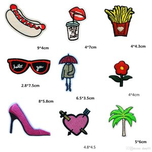 diy Style Parches Embroidery Iron on for Clothing hat shoes DIY Stripes Clothes Planet Stickers Applique Patch paste 40pcs