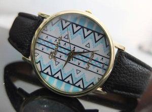 Geneva simple design quartz Lady wristwatches Retro Women wrist bracelet watch belt fashion decoration watchfreeshipping