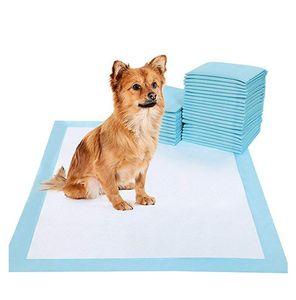 Köpek Kediler için 100Pcs Süper Emici Pet Bezi Köpek Eğitim Çiş Pedleri Tek Sağlıklı Nappy Mat