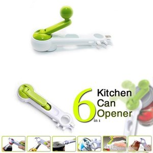 6 In 1 Universal Multi-Functional Can Bottle Jar Opener Cooking Party Tools Kitchen Dining Bar Accessories Supplies