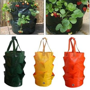 3 Gallon Strawberry Planting Growing Bag Garden Hanging Planter Grow Bag Plant Pouch Tomato Strawberry Flower Herb Bags
