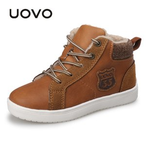 UOVO 2018 new autumn & winter walking shoes fashion boys casual shoes children sneaker warm comforable kids shoes Eur29#-35#