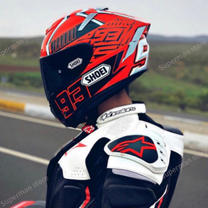 Full Face X14 93 Marquez rote Ameise Motorrad-Sturzhelm Anti-Fog Visier Man Riding Autos motocroßlaufen Motorradhelm-NOT-ORIGINAL-Helm
