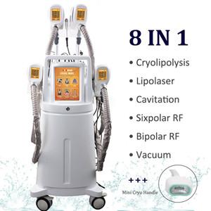 2019 Cryolipolysis Fett Einfrieren Maschine reduzieren Doppelkinn Cryo 4 Hand- und Winkelstücke zusammenarbeiten Cryolipolysis Vacuum Abnehmen Kolben-Lifting