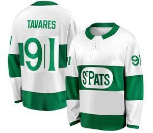 Chandail de hockey blanc Premier Matthews Toronto St. Pats 2019, Maple Leafs de Toronto 34 Maillot de hockey MATTHEWS 91 TAVARES 16 MARNER, boutique en ligne à vendre