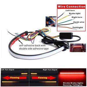 Moto LED séquentielle Switchback Flowing queue lumière de frein Clignotants Signal bande de Universal Tube