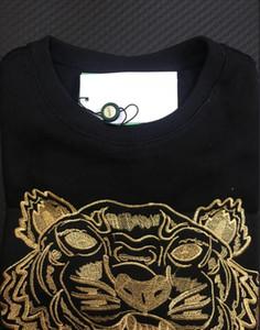 Вышивка тигр глава свитер мужчина женщина высокого качества с длинным рукавом О-образным вырезом пуловеры толстовки кофты перемычка лучшее качество черного золота