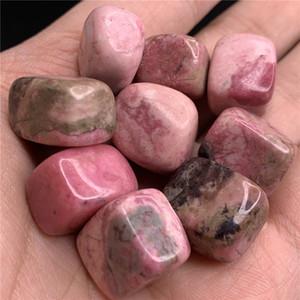 beau cristal cube squar de rhodonite naturel pierre belle pierre Tumbled bonne guérison en cristal poli (Taille: 15 mm --30)