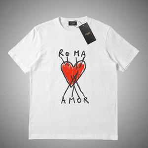 GUCCI Vendita calda nuovo stile mens camicie firmate tee commes des garcons cotone ricamato cuore rosso tees uomo donna casual manica corta t-shirt # 551