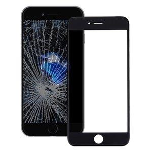 Pantalla frontal buena calidad lente de cristal externa con pantalla LCD frontal del capítulo del bisel OCA ópticamente claro Adhesivo para iPhone 7
