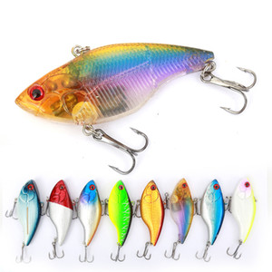 Wokotip 7cm 18g Pesca duro del señuelo VIB gancho Rattlin Ojos 3D pesca de hundimiento Vibra Rattlin Hooktion Señuelos Crank cebos T191016
