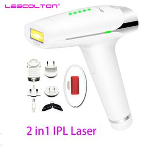300000 نبضة flash IPL الجسم إزالة الشعر نظام 2 في 1 LESCOLTON المنزل Lescolton Epilator الليزر بلا ألم