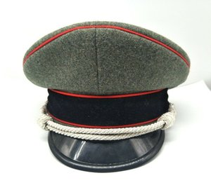 tomwang2012. WW2 GERMAN LAINE ARMY OFFICER ELITE PARE corde d'argent HAT MILITARY CAP 57 58 59 60 61 cm COLLECTION DE GUERRE reenactments