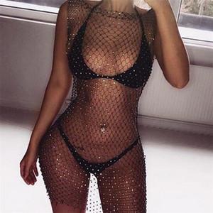 Vestito sexy delle donne Summer Beach Dress Lace Net Cover Up costume da bagno 2019 Più nuova vendita calda Summer robe femme ropa mujer Elegante