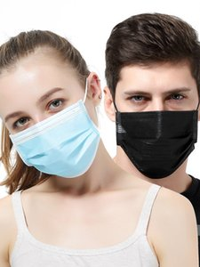 Disposable Face Mask 3 Layer Ear-loop Dust Mouth Masks Cover 3-Ply Non-woven Disposable Dust Mask Soft Breathable outdoor part Free DHL