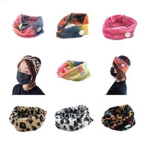 Бесплатная доставка женщины эластичный Леопард анти ухо повязки с маской кнопка красочные спортивные йога упражнения мягкие волосы кружева для девочек аксессуары для волос