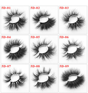25 mm 5D Mink Soft Fals Fals Fals Falsy Wispy Fluffy Long Eyelash Nature Herramientas de maquillaje de ojos Faux Eye Lestes