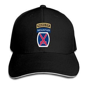Ranger Beyzbol Şapkası Ayarlanabilir Çatılı Sandwich Şapka Unisexe Erkekler Kadınlar Beyzbol Spor Dış Mekan Hip-hop Cap ile 10 Dağ Bölümü