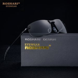 RoShari Chameleon Sunglasses men photochromic All-weather Discoloration Professional driving Sun glasses men lunette de soleil Y200619