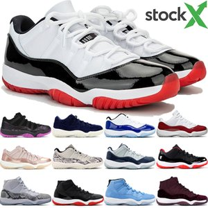 New Jumpman low white bred 11 11s basketball shoes heiress night maroon pantone think 16 white snake men women designer sneakers