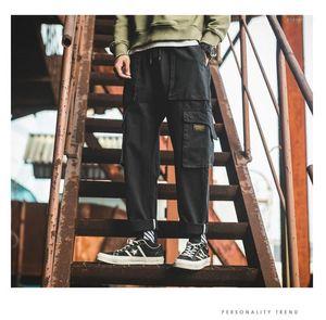 Casual Street Style Abbigliamento Uomo Vintage Mult tasca dei pantaloni del progettista primavera-estate diritta Cargo Pant Maschi allentato